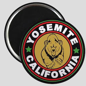 Yosemite Black Circle Magnet