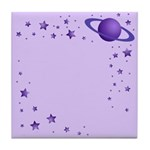 Planet with Stars Tile Coaster