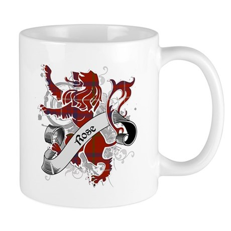 Rose Tartan Lion Mug