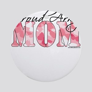 Proud Army Mom (Pink Butterfly Camo) Ornament (Rou