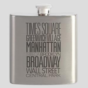 I Love NY Flask