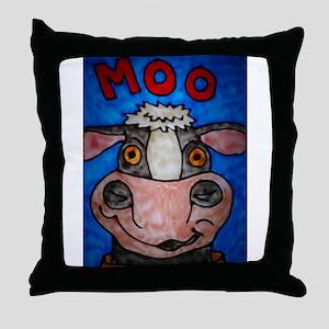 Moo Cow Throw Pillow