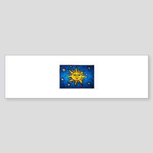 Stained Glass Sun Sticker (Bumper)