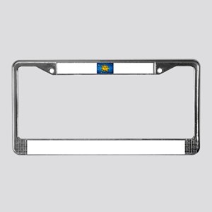 Stained Glass Sun License Plate Frame