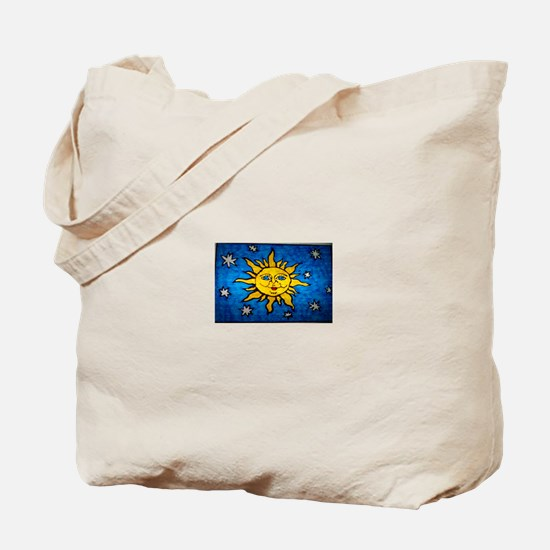 Stained Glass Sun Tote Bag