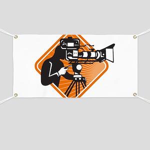 film crew cameraman shooting filming camera Banner