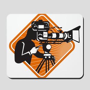 film crew cameraman shooting filming camera Mousep