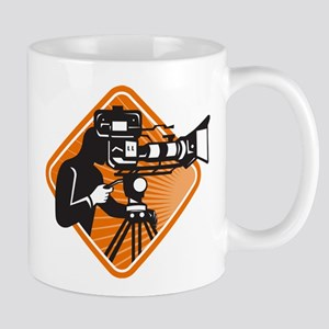 film crew cameraman shooting filming camera Mug