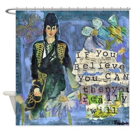 If You Believe You Can Bathroom Shower Curtain