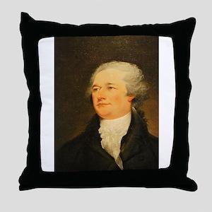 Founding Fathers: Alexander Hamilton Throw Pillow