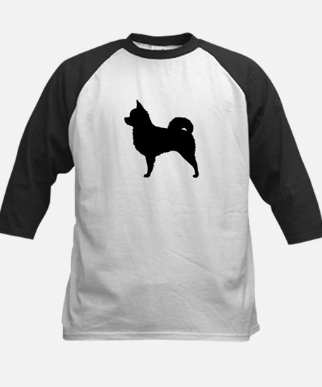 Long Hair Chihuahua Kids Baseball Jersey