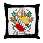 Pennefather Coat of Arms Throw Pillow