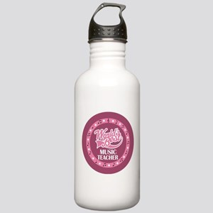 Worlds Best Music Teacher Stainless Water Bottle 1