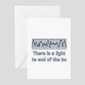 v-fib light at end of tunnel Greeting Cards (P