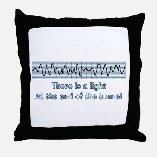 v-fib light at end of tunnel.PNG Throw Pillow