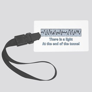 v-fib light at end of tunnel Large Luggage Tag
