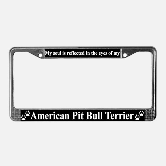 American Pit Bull Alternate License Plate Frame