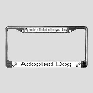 """Adopted Dog"" License Plate Frame"