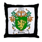 Peasley Coat of Arms Throw Pillow