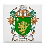Peasley Coat of Arms Tile Coaster