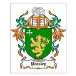 Peasley Coat of Arms Small Poster