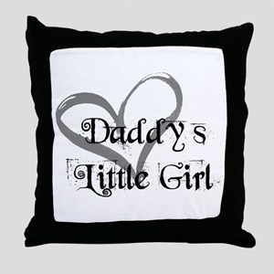 daddys little girl Throw Pillow