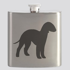 bedlington terrier black 2 Flask
