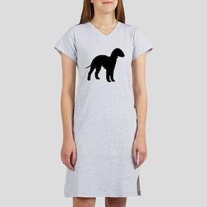 bedlington terrier white 2 Women's Nightshirt