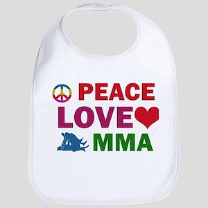 Peace Love MMA Designs Bib