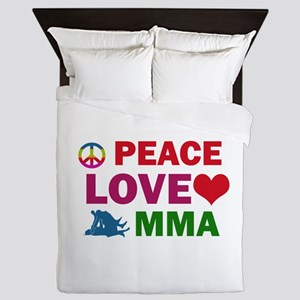 Peace Love MMA Designs Queen Duvet