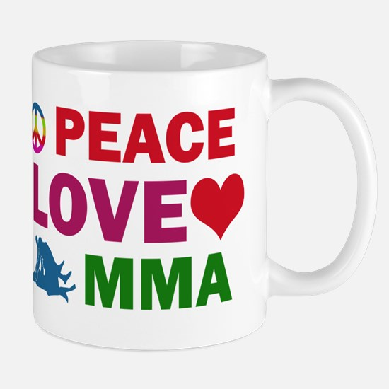 Peace Love MMA Designs Mug