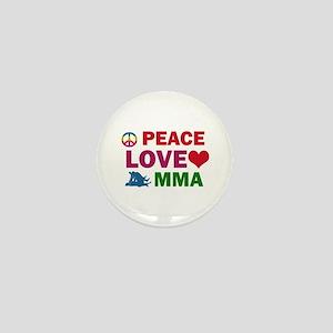 Peace Love MMA Designs Mini Button