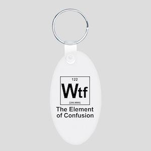 Element Wtf Aluminum Oval Keychain