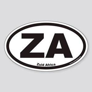 Zuid Africa ZA Euro Oval Sticker