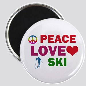 Peace Love Ski Designs Magnet