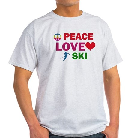 Peace Love Ski Designs Light T-Shirt
