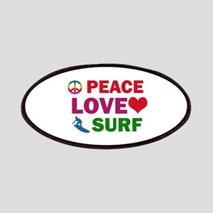 Peace Love Surf Designs Patches