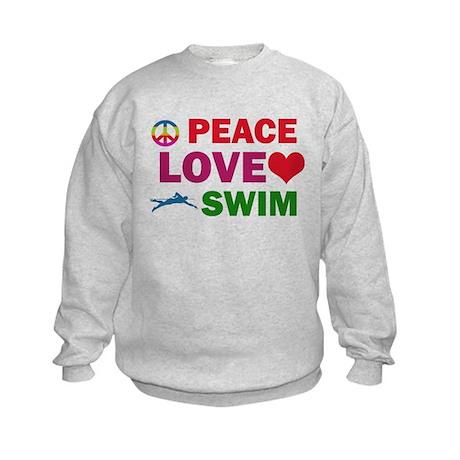 Peace Love Swim Designs Kids Sweatshirt