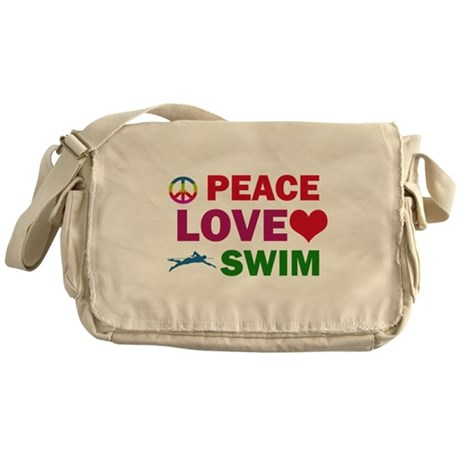 Peace Love Swim Designs Messenger Bag