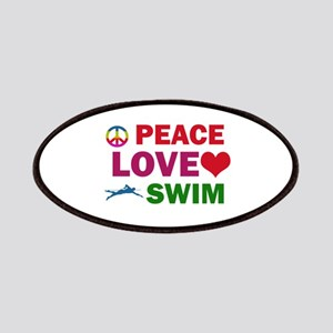 Peace Love Swim Designs Patches