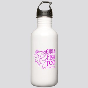 GIRLS FISH TOO WALLEYE Stainless Water Bottle 1.0L