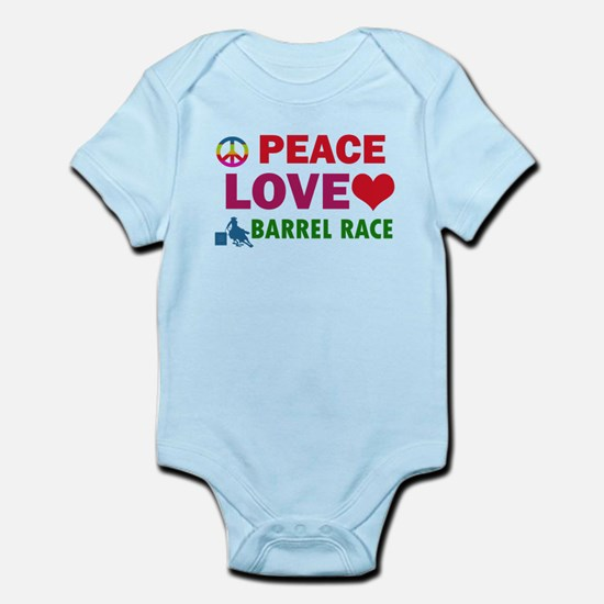 Peace Love Barrel Race Designs Infant Bodysuit