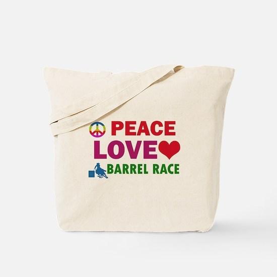 Peace Love Barrel Race Designs Tote Bag
