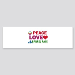 Peace Love Barrel Race Designs Sticker (Bumper)