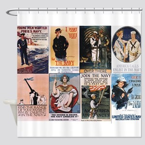 WWI Navy Posters Shower Curtain