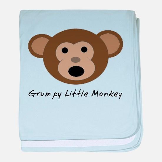Grumpy Little Monkey Baby Blanket