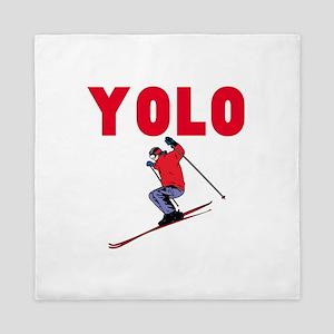 Yolo Skiing Queen Duvet