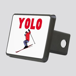 Yolo Skiing Rectangular Hitch Cover