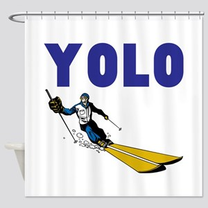 Yolo Skiing Shower Curtain