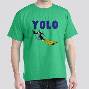 Yolo Skiing Dark T-Shirt